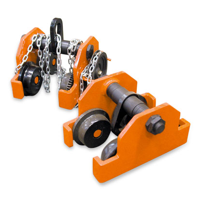Beam clamps and trolleys