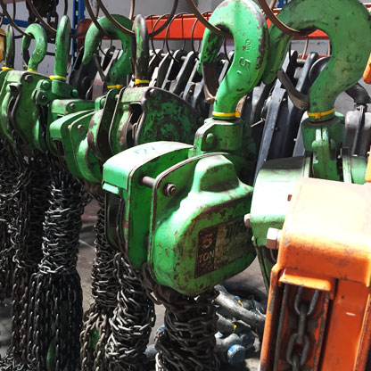 Rental of Lifting Equipment